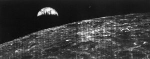 The first photograph ever taken of the Earth from space in 1966.
