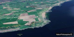 An aerial view of the Ayrshire coastline. Screenshot: NaturPhilosophie