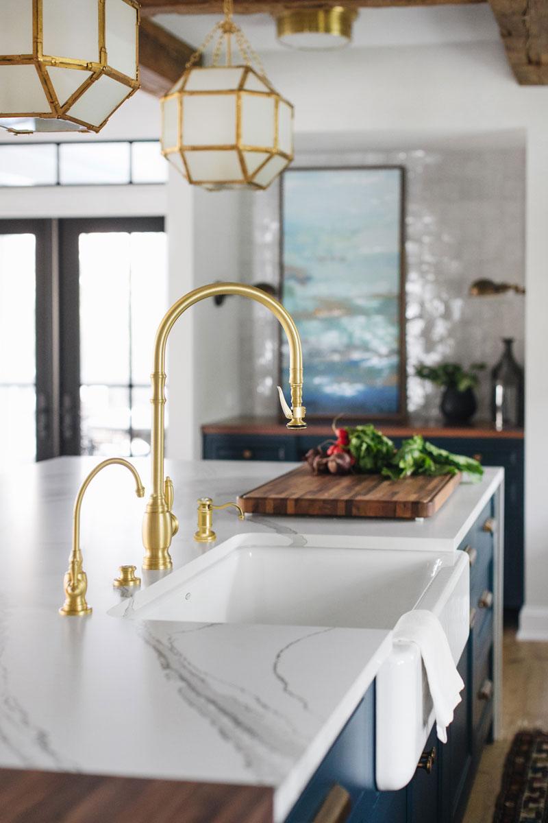 kitchen faucet gold