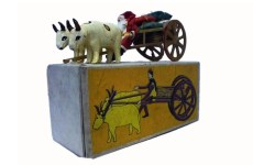 Santa Riding on a Ox-Cart