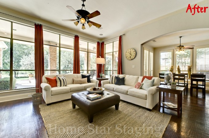 Karen Otto staged living room