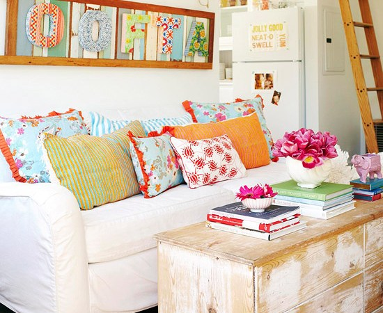 Throw pillows: Your most important home staging accessory.