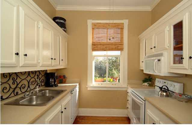 staged galley kitchen