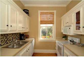 staged galley kitchen