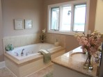 staged master bath