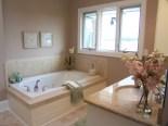 staged master bath