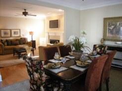 staged formal dining room