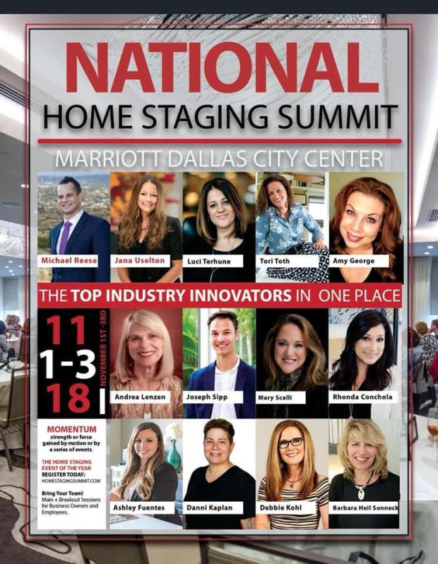 2018 National Home Staging Summit - Dallas TX - HSRA - Staging The Nest