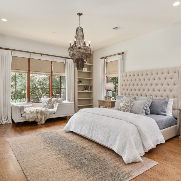 Staging The Nest - Vacant Home Staging - The Woodlands - Houston - Master Bedroom