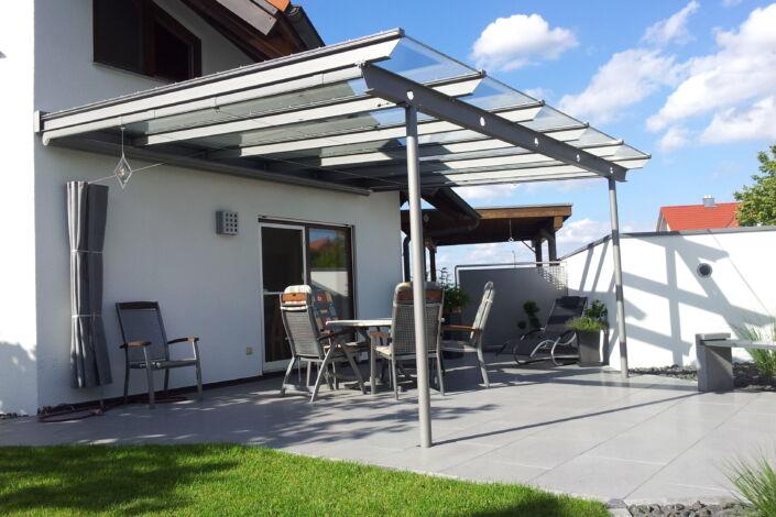Terrassenüberdachung Bezgenriet Stahlbau Nägele