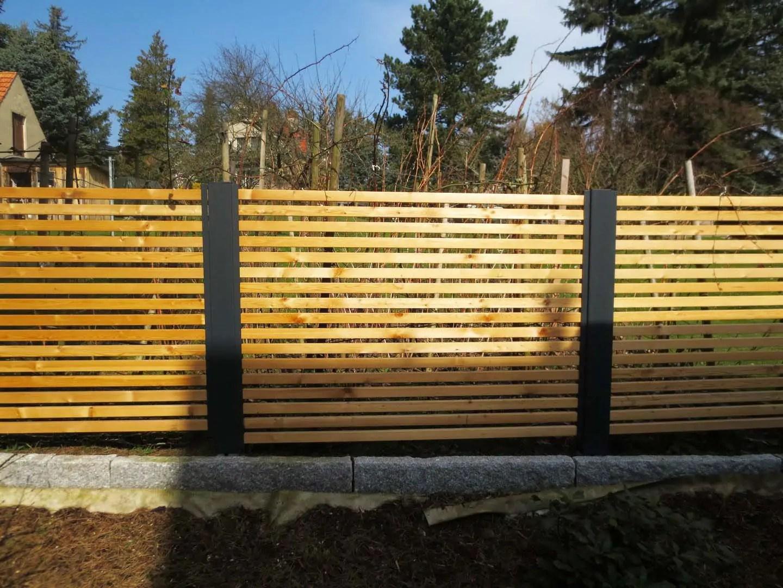 Sichtschutzzaun Holz Metall Gunstig Larche Hohe Grau Wei