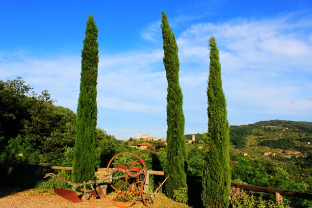 The Tuscany countryside view from La Fausta