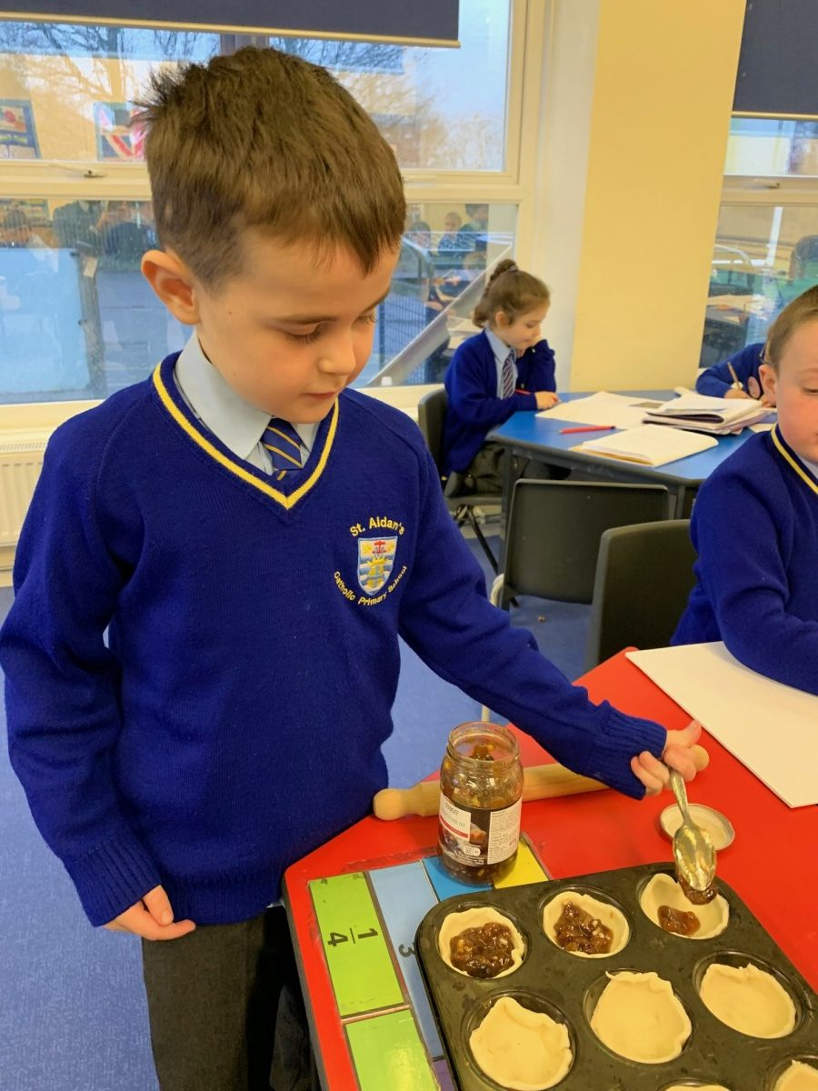 Year 2 Creating Mince Pies And Hot Chocolate Stirrers For