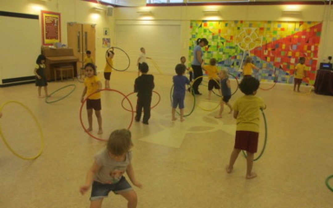 Receptions first hoola hooping P.E lesson