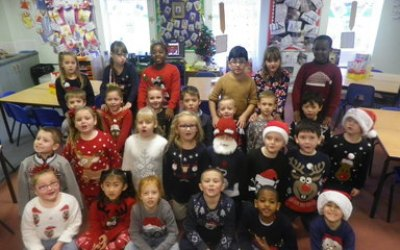 Christmas Jumper day in Year 2!
