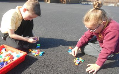 Counting outside!