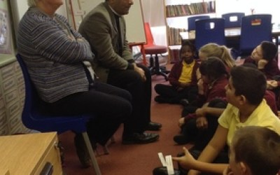 Reverend Cameron's Visit to St. Aidan's!