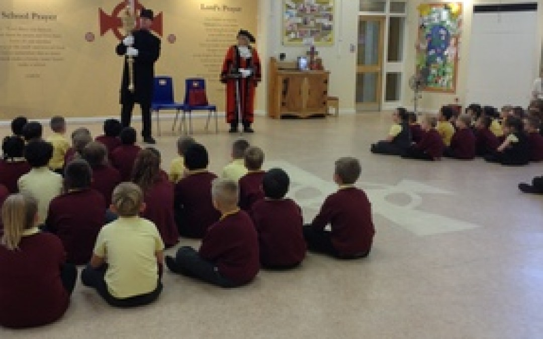 Mayor of Gateshead visits St Aidan's