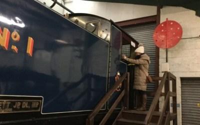 Santa at Stephenson's  Railway Museum