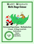 christmas advanced operations math bingo multiplication