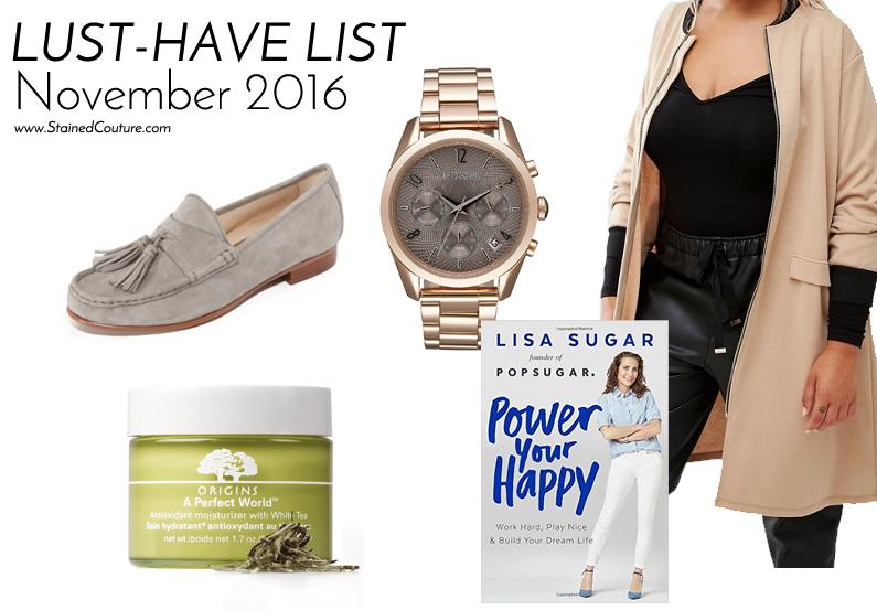 lust-have list november 2016