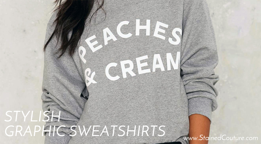 stylish graphic sweatshirts