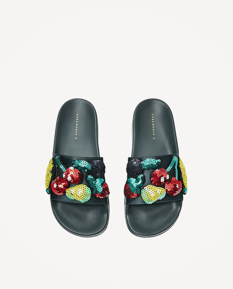 shoes from zara multifruit slides