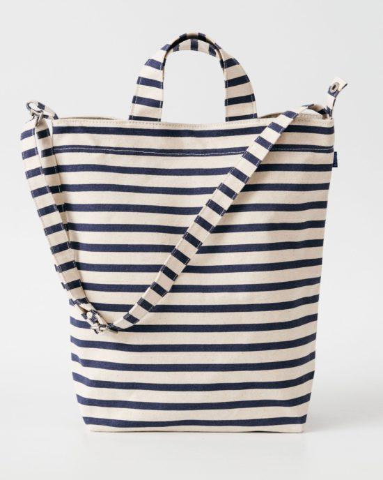 BAGGU blue stripes duck bag