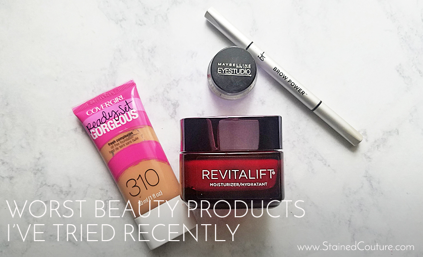 worst beauty products I recently tried