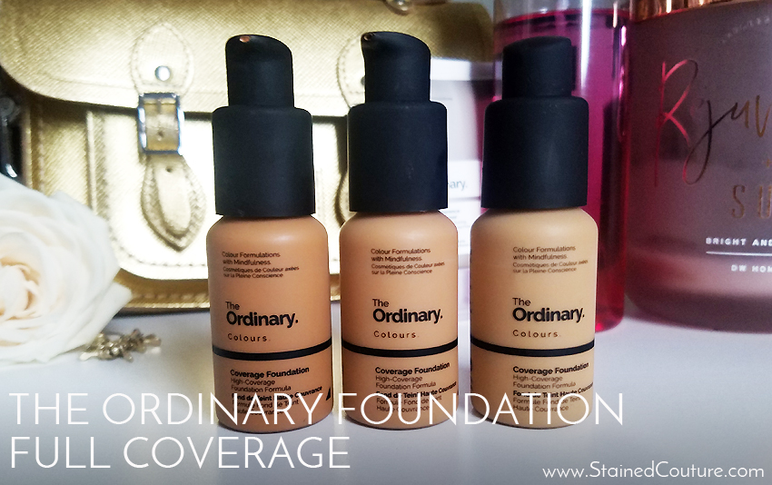 The Ordinary foundation in high coverage formula