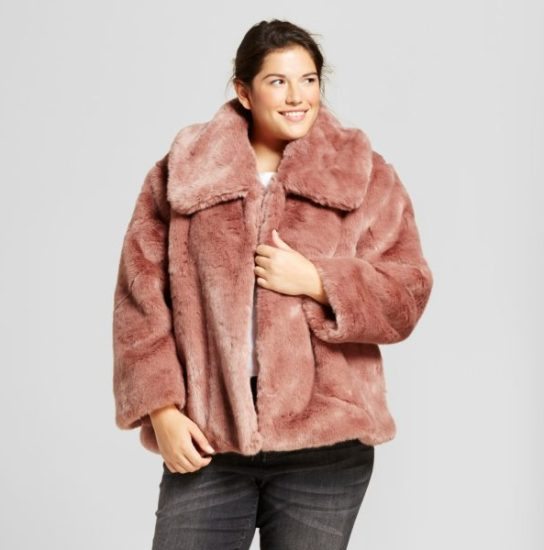 A New Day Pink Fuzzy Coat