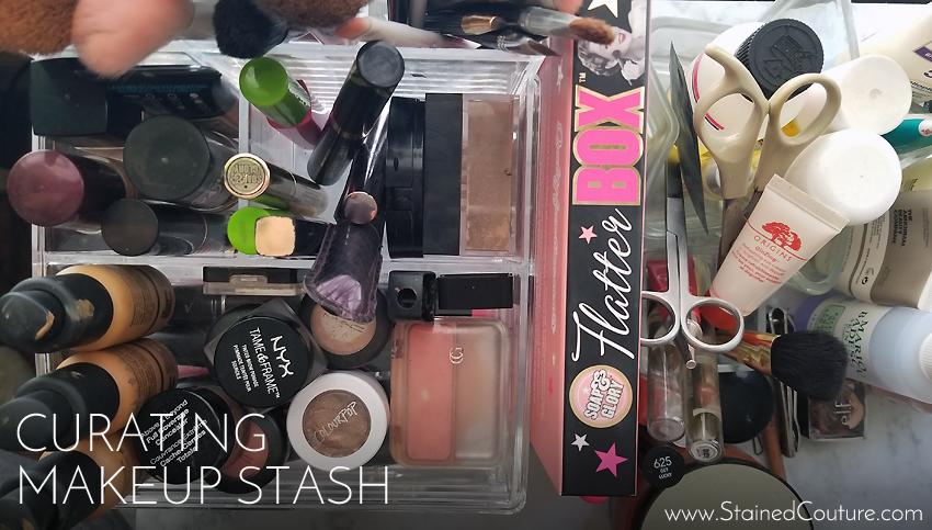 curating makeup stash