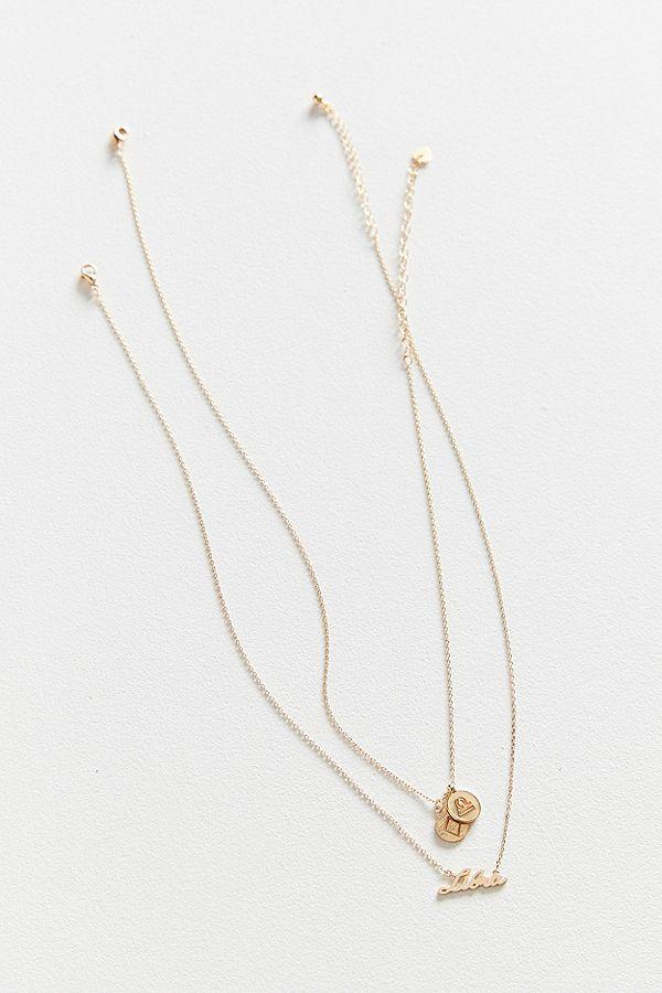 Zodiac Layering Charm Necklace Set