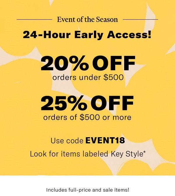 Shopbop Spring Event of the Season 2018