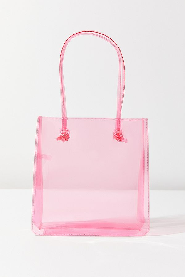 UO Clear Mini Lady Tote in Pink | Clear Purses and Bags