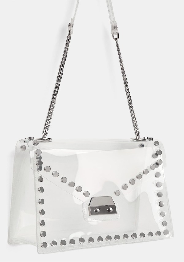 Zara Studded Clear Crossbody | Clear Purse and Bags