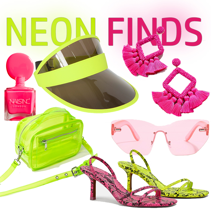 NEON ACCESSORIES: Pink and Green | STAINED COUTURE