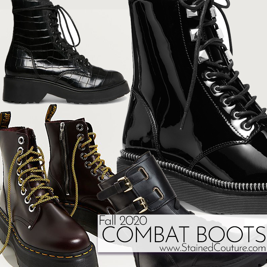 Combat Boots for Fall 2020 | STAINED COUTURE