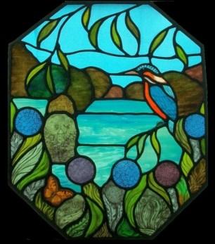 Kingfisher Scene Panel