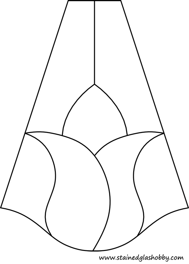 Tulip lamp shade 3d stained glass