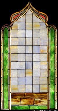"""""""Geometric Patterned Stained Glass Window"""" Religious ..."""