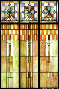 """Art Deco Stained Glass"" Stained Glass Window"