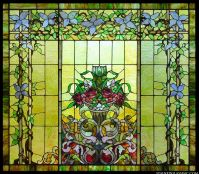 """""""Floral Beauty"""" Stained Glass Window"""
