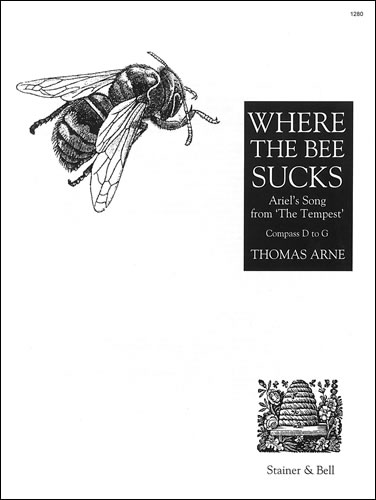 Arne, Thomas: Where The Bee Sucks. G Major