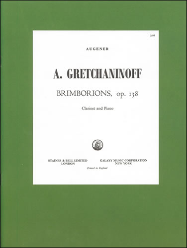 Grechaninoff, Alexander: Brimborions Op. 138 For Clarinet And Piano