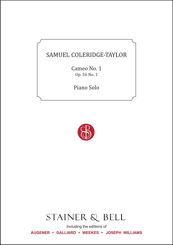 Coleridge-Taylor, Samuel: Cameo No. 1, Op. 56 No. 1. Piano Solo
