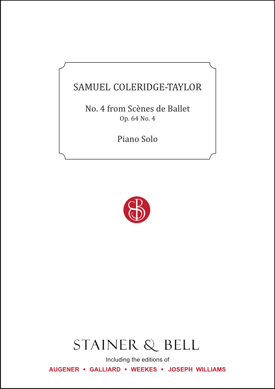 Coleridge-Taylor, Samuel: No. 4 From Scènes De Ballet, Op. 64 No. 4. Piano Solo