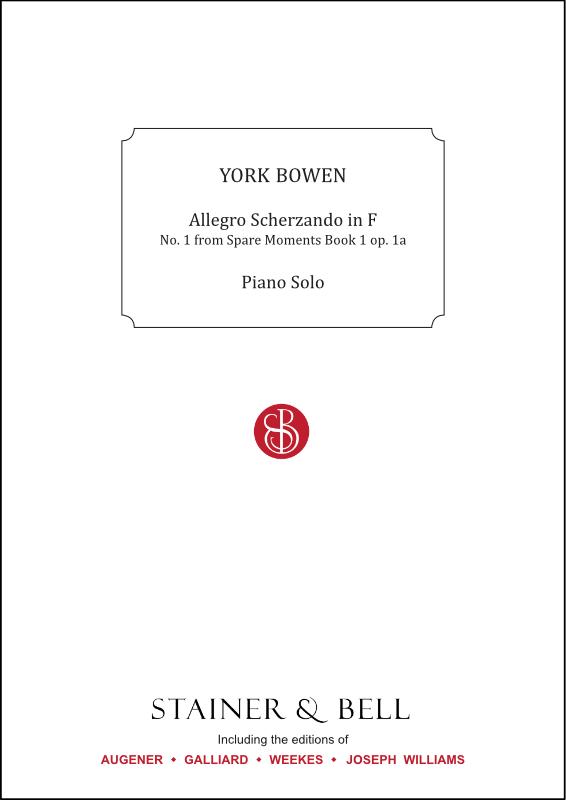 Bowen, York: Allegro Scherzando In F. Piano Solo