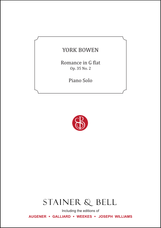 Bowen, York: Romance In G Flat. Op. 35 No. 2. Piano Solo
