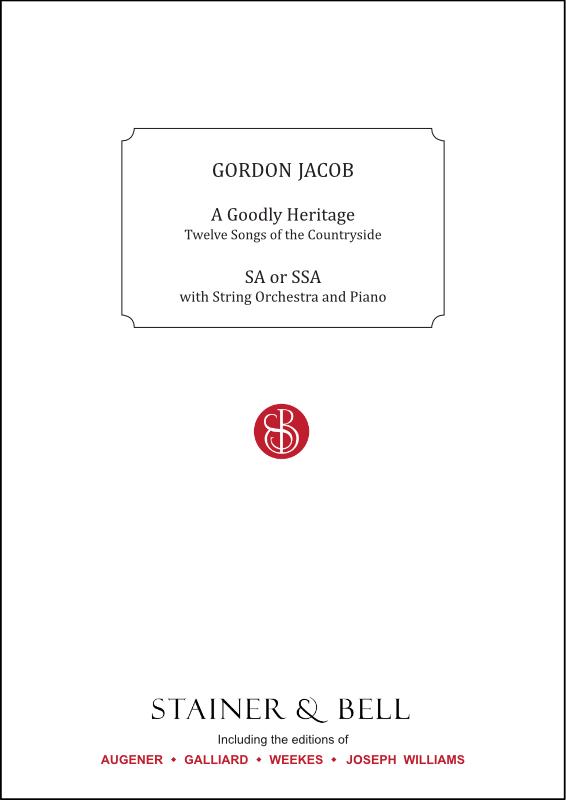 Jacob, Gordon: A Goodly Heritage. Women's Voices